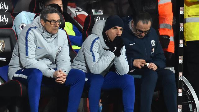 Ekspresi Maurizio Sarri Saat Chelsea Dibantai 4-0