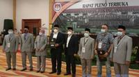 Rapat Pleno Penetapan Pemenang Pilkada Kota Cilegon Oleh KPU. (Sabtu, 23/01/2021). (Liputan6.com/Yandhi Deslatama).