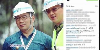 Bagaimana jika Ahok dan Ridwan Kamil foto bareng dan foto tersebut di unggah ke Instagram? Simak komentar Netizen.