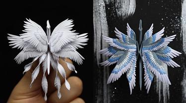 6 Karya Seni Origami Burung Bangau Ini Detailnya Sempurna, Bikin Takjub