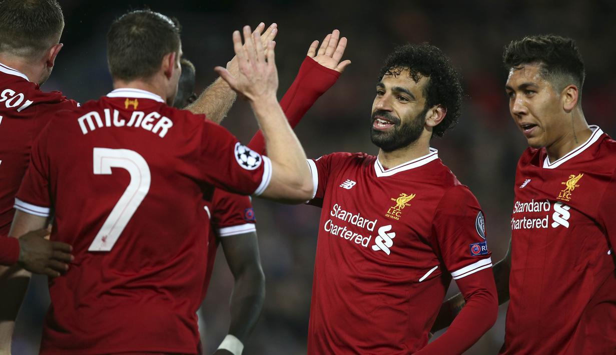 FOTO Mohamed Salah Gemilang Liverpool Tundukkan AS Roma Dunia