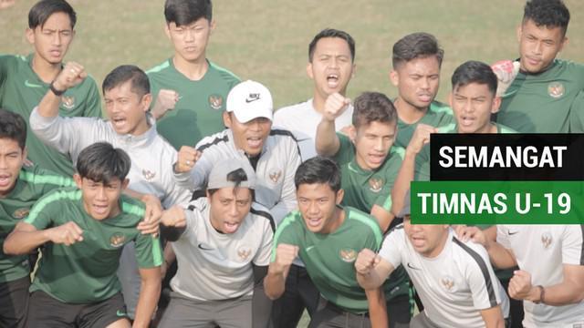 """Berita video momen Timnas Indonesia U-19 menyorakkan """"semangat Sumpah Pemuda"""" sebelum latihan jelang laga perempat final Piala AFC U-19 2018 melawan Jepang U-19, Jumat (26/10/2018)."""
