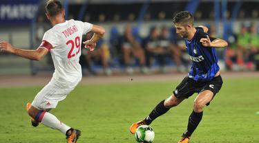 FOTO: Gol Stevan Jovetic Antar Inter Milan Bungkam Lyon
