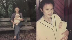 Wanita kelahiran Serang 26 Oktober 1994 ini kerap membagikan foto masa kecilnya bersama sang ayah dan ibu. (Liputan6.com/IG/@melatidaeva)