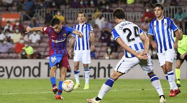 Sponsor judi dilarang karena berdampak buruk bagi masyarakat. Aturan ini berdampak bagi 3 klub liga Spanyol secara finansial karena belum mendapatkan sponsor alternatif. (Foto: AFP/Josep Lago)