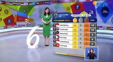 Indonesia terus menambah pundi-pundi medali di Asian Games 2018. Kontingen Indonesia masih berada di posisi kelima di bawah raksasa Asia, China, Jepang, Korea dan Iran.