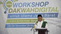90 ulama Jabar mengikuti pelatihan berdakwah di media sosial, 25-26 November 2019 . (Liputan6.com/Arie Nugraha)