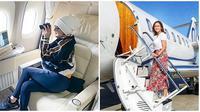 Momen Seleb Indonesia Saat Naik Jet Pribadi, Ada Maia Estianty dan Syahrini (sumber:instagram/ maiaestiantyreal dan princessyahrini)