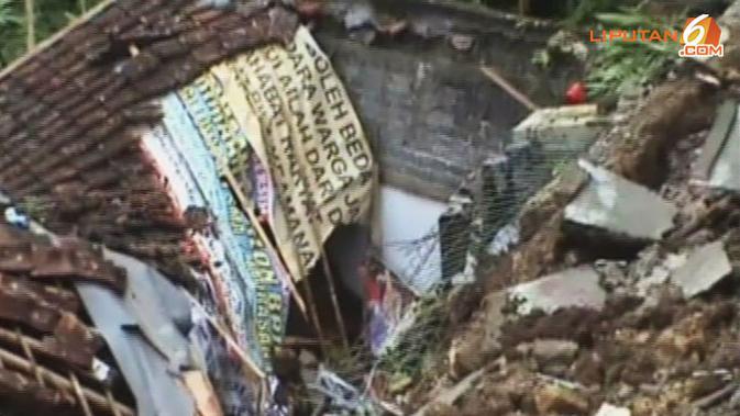 [VIDEO] Bencana Longsor di Sukabumi, Belasan Rumah Rusak