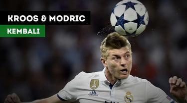 Toni Kroos dan Luka Modric akan kembali saat Real Madrid menghadapi PSG.