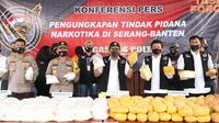Bareskrim Polri bongkar kasus peredaran sabu seberat 821 kilogram jaringan Timur Tengah di Banten. (Dok Polri)