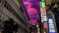 Langit ungu di Jepang (Sumber: Twitter/ara_to1)