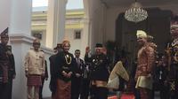 Wakil Presiden terpilih Ma'ruf Amin menghadiri Upacara Peringatan Detik-detik Proklamasi Kemerdekaan RI ke-74 di Istana Merdeka, Jakarta, Sabtu (17/8/2019) pagi. (Liputan6.com/Lizsa Egeham)