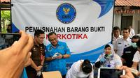 Kepala BNN Komjen Heru Winarko saat acara pemusnahan barang bukti narkotika hasil pengungkapan 5 kasus selama Agustus 2018 (Liputan6.com/Ratu Annisaa)