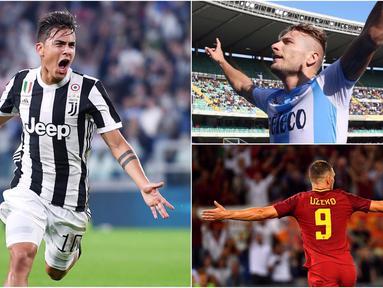 Berikut ini deretan top scorer Serie A Italia 2017/2018 hingga pekan keenam. (Kolase foto-foto dari AFP dan AP)