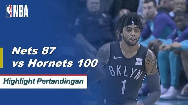 Kemba Walker memimpin Hornets dengan 29 poin saat mereka menang atas Nets, 100-87.