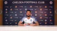Chelsea resmi memperpanjang kontrak Olivier Giroud selama setahun. (dok. Chelsea)