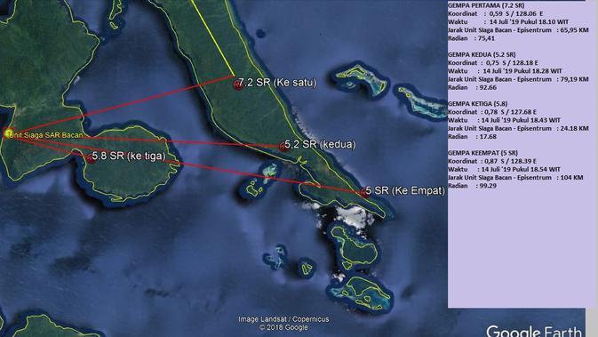 Ilustrasi gempa Maluku (Liputan6.com/Hairil Hiar/BMKG Ternate)