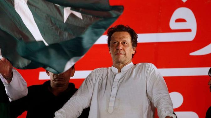 Perdana Menteri Pakistan, Imran Khasn (AP/Arjum Naveed)