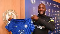 Striker baru Chelsea Romelu Lukaku. (foto: Instagram @chelseafc)