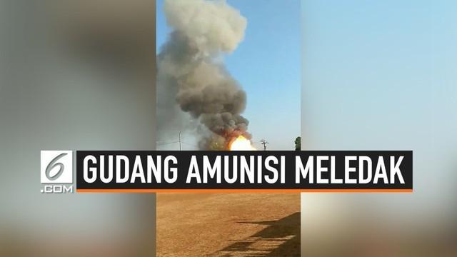 Kapolda Jawa Tengah Irjen Rycko Amelza Dahniel menjelaskan kronologi meledaknya gudang amunisi mako Brimob di Semarang Sabtu (14/9/2019). Ledakan sempat terjadi  beberapa kali.