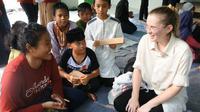 Sejumlah mahasiswa penerima beasiswa Lembaga Pengelola Dana Pendidikan (LPDP) IPB University hadirkan tiga mahasiswa asing dalam acara Awardee LPDP. (Foto: Achmad Sudarno)