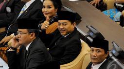 Anang Hermansyah lolos ke DPR dan siap mengikuti acara pelantikan, Senayan, Jakarta, Rabu (1/10/2014) (Liputan6.com/Andrian M Tunay)