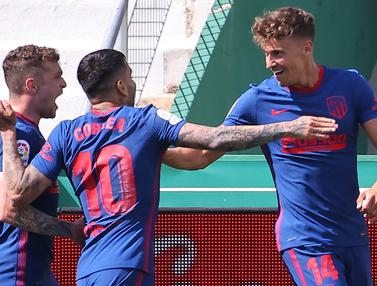 FOTO: Atletico Madrid Menang Tipis, Luis Suarez Cs Kokoh di Puncak Klasemen Liga Spanyol