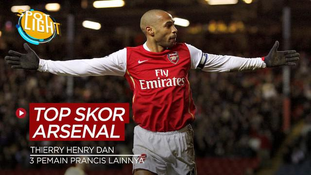 Berita video spotlight kali membahas tentang para pemain asal Prancis yang mempunyai torehan gol terbanyak di Arsenal, salah satunya yaitu Thierry Henry.