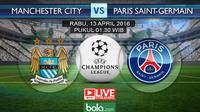 Manchester City vs Paris Saint-Germain (bola.com/Rudi Riana)
