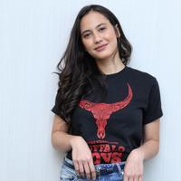 Pevita Pearce, pemain film Buffalo Boys. (Adrian Putra/Bintang.com)