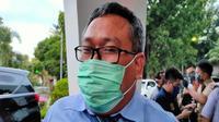 Kepala BI Cirebon Bakti Artanta mengajak pelaku UMKM untuk manfaatkan teknologi dalam berniaga ditengah pandemi covid-19 dan penerapan PSBB. Foto (Liputan6.com / Panji Prayitno)