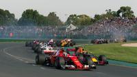 Berikut ini jadwal lengkap balapan Formula 1 GP Australia 2018 yang bakal dihelat di Sirkuit Albert Park, 23-25 Maret 2018. (Formula1.com)