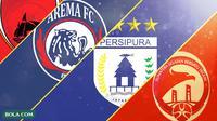 Trivia - Logo Klub PSM Makassar, Arema, Persipura, Sriwijaya FC (Bola.com/Adreanus Titus)