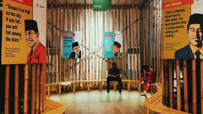 Kutipan dari para pemimpin bangsa di lokasi santai Indonesia Pavilion. Dok: Istimewa