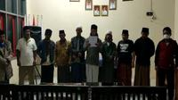 Permohonan maaf pelaku azan jihad di Majalengka. Foto (Liputan6.com / Tangkapan Layar)