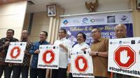 Jumpa media Pemerintah sudah lama cita-citakan perkawinan IMEI dan nomor telepon di Jakarta, Jumat (2/8/2019). (Liputan6.com/ Agustinus Mario Damar)
