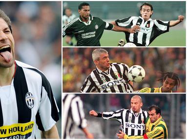 Berikut ini adalah para striker top yang pernah dimiliki Juventus pada era-90an. Diantaranya Roberto Baggio, Alessandro Del Piero hingga Filippo Inzaghi. (Foto Kolase AFP)