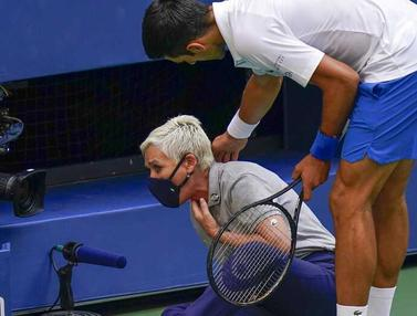 Gebok Hakim Garis, Novak Djokovic Didiskualifikasi dari AS Terbuka 2020