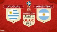 Kualifikasi Piala Dunia 2018 Uruguay Vs Argentina (Bola.com/Adreanus Titus)