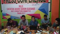 Anti Cooruption Committee (ACC) Sulawesi rilis catatan akhir tahun penanganan kasus korupsi di Sulsel (Liputan6.com/ Eka Hakim)