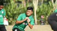 Gelandang PSS Sleman, Jefri Kurniawan, dalam sesi latihan timn. (Dok PSS Sleman)