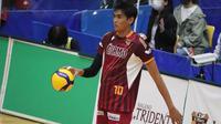 Debut atlet voli Indonesia Rivan Nurmulki bersama Nagano Tridents di V.League Division 1 Jepang mendapat pujian. (foto: Instagram @ melt_aya.0205)