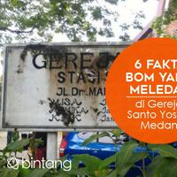 Minggu (28/8), sebuah bom meledak di Gereja Santo Yosep Medan. Apa motifnya? (Via: liputan6.com)