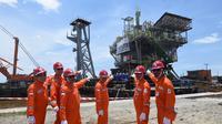 PT Pertamina Hulu Energi Offshore North West Java (PHE ONWJ) Segera Pasang Anjungan SPA (Foto: PHE ONWJ)