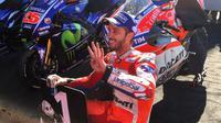 Kemenangan di MotoGP Inggris menjadi yang keempat diraih Andrea Dovizioso pada balapan musim 2017. (Twitter/@DucatiMotor)