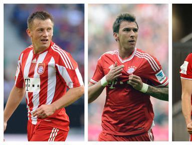 Sebagai klub papan atas di Eropa, Bayern Munchen rutin memperkuat amunisi mereka dengan pemain berkualitas dari manapun, salah satunya Kroasia. Dalam 10 tahun terakhir, tercatat 5 pemain asal Kroasia yang pernah memperkuat Die Roten. Siapa saja mereka? (Kolase Foto AFP)