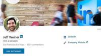 CEO LinkedIn, Jeff Weiner (screenshot akun LinkedIn Jeff Weiner)