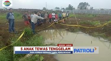 Kelima bocah berusia 8 hingga 12 tahun itu tenggelam saat bermain bersama di area tersebut usai pulang sekolah.