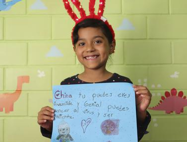 Pesan Perjuangan Melawan Virus COVID-19 dari Anak-Anak Meksiko